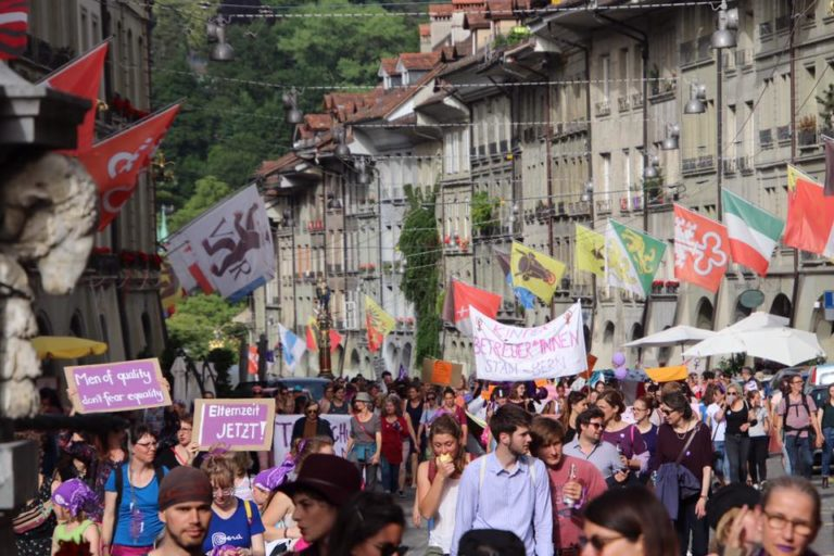Swiss Women strike to demand equal rights