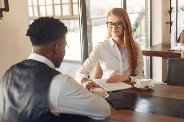 Employer interviewing candidate